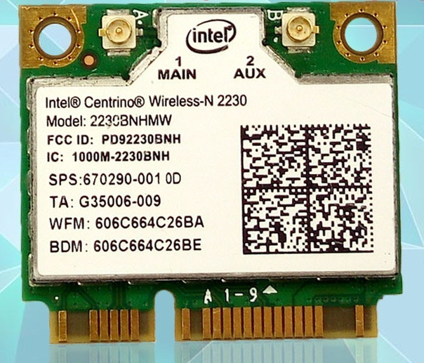 Ssea cartão wi-fi bluetooth 4.0 sem fio para o intel® centrino® sem fio-n 2230 2230 112bnhmw metade mini pci-e card para hp dv7 670290-001