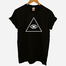 Illuminati Confirmed Conspiracy Control Pyramid Eye Hipster Anarchy T-Shirt New T Shirts Funny Tops Tee Unisex