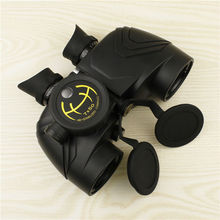High quality 7X50 high power waterproof russian binocular Military Wide Angle rangefinder Binoculars with HD stabilized Compass