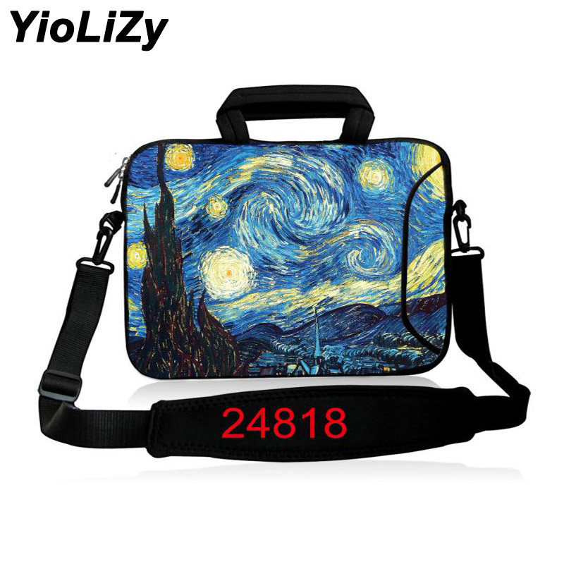 Van Gogh 10 11.6 13.3 14.1 15.6 17.3 inch handbag Laptop protective case Notebook Bag With strap Messenger sleeve cover SB-24818 ...