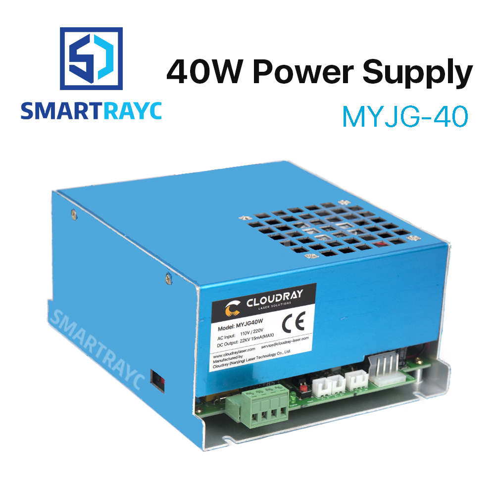 Smartrayc 40W CO2 Laser Power Supply MYJG-40 110V 220V for CO2 Laser Engraving Cutting Machine 35-50W 50w co2 laser power supply for co2 laser engraving cutting machine myjg 50w