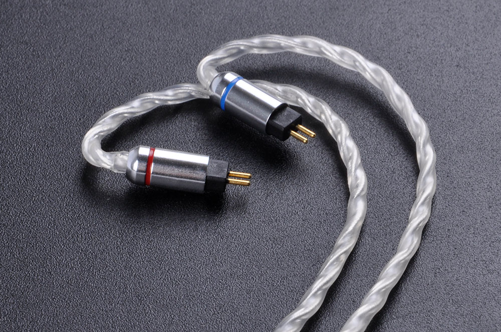 AK Newest Upgraded 7N Single Crystal Copper Plated Silver Cable 2.5/3.5.4.4mm Balanced Cable With MMCX/2Pin For Shure KZ Sony