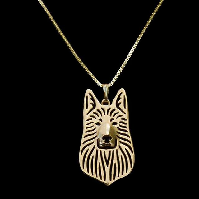 Hot Style Silver Plated Dog Pendant Necklaces Women's Metal German Shepherd Necklaces Drop Shipping