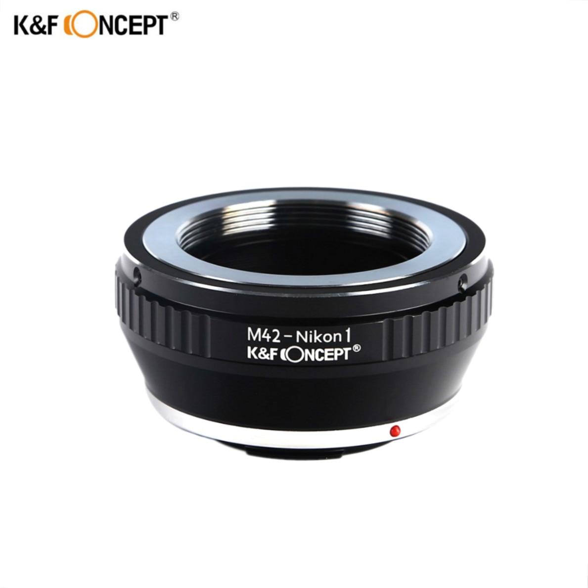 K & F Concept Objectif Bague Adaptatrice de Montage Pour M42 Pentax Praktica Lens Pour Nikon 1 Nikon1 Caméra