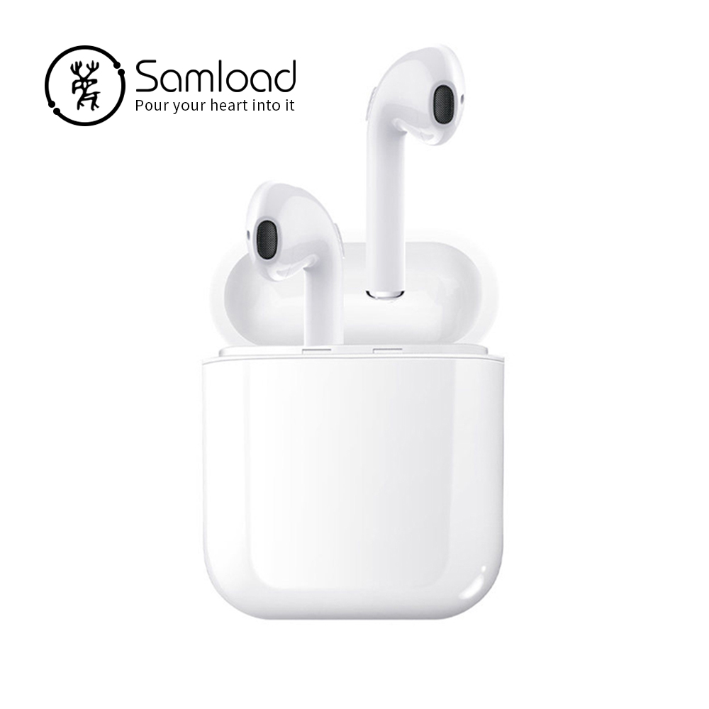 Samload Wireless Bluetooth Earphones For Apple Stereo Earbuds In-Ear Earphone For Android Air Microphone Pods For iPhone X/6/7/8