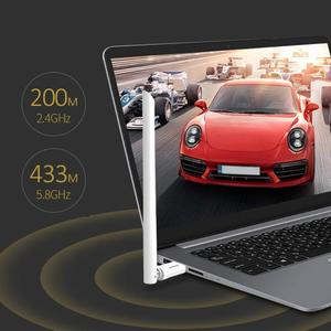 Image 2 - USB Wifi Adapter 650Mbps Wireless Receiver Dongle Ethernet Netzwerk Karte 6dBi Antenne für Windows XP/7/8 /8,1/1 Mac OS10.6 10.15