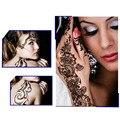 2 unids Negro Tatuajes de Henna India Ahueca Hacia Fuera Pegatinas Tatuajes Arte Corporal Temporal Mano