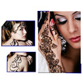 2pcs Black Henna Tattoos India Hollow Out Temporary Hand Tattoos Stickers Body Art