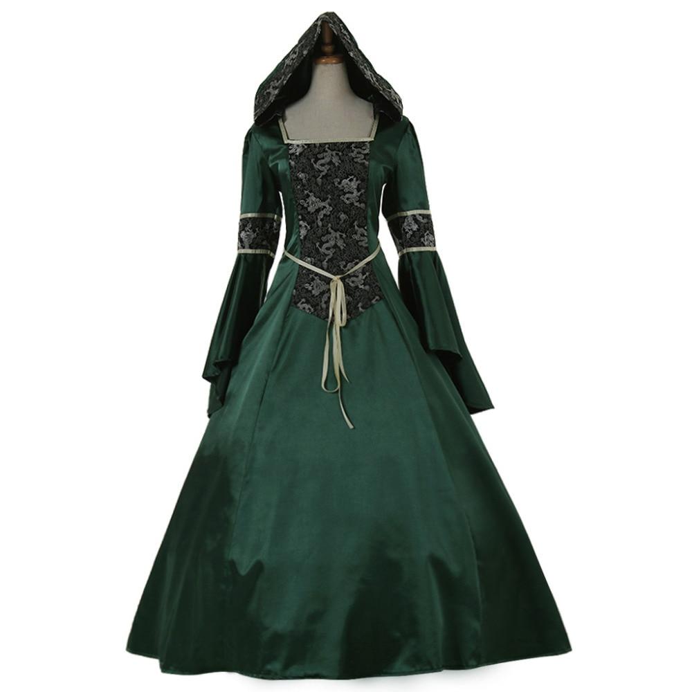 Celtic Wedding Dresses White Pale Blue Medieval Bridal: Aliexpress.com : Buy Elegant Long Sleeve Victorian