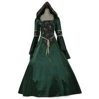 Elegant Long Sleeve Victorian Medieval Aristocrat Ball Gown Dress Deep Green Wedding Carnaval Party Fancy Dress Custom Made