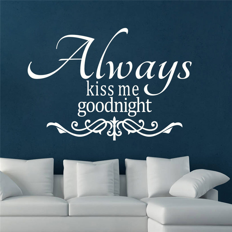 Always Kiss Me Goodnight Wall Art online shop embroidery diy always kiss me good night quote wall