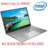 עם התאורה האחורית ips P3-04 8G RAM 512G SSD I3-5005U מחברת מחשב נייד Ultrabook עם התאורה האחורית IPS WIN10 מקלדת ושפת OS זמינה עבור לבחור (1)