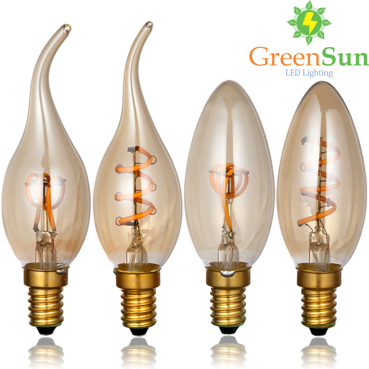 Gold Tint,E14 Edison LED Filament Bulb,C35 Vintage Spiral Lamp,Super warm 2200K,Soft Flexible Filament Cob LED Bulb,Dimmable AC 5pcs e27 led bulb 2w 4w 6w vintage cold white warm white edison lamp g45 led filament decorative bulb ac 220v 240v