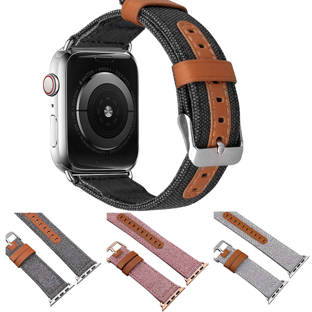 Strap For Apple Watch Series 4 3 2 1 Strap For Iwatch 38mm 42mm Bracelet Smart Accessories Wrist Dark Denim Blue Jean Bands