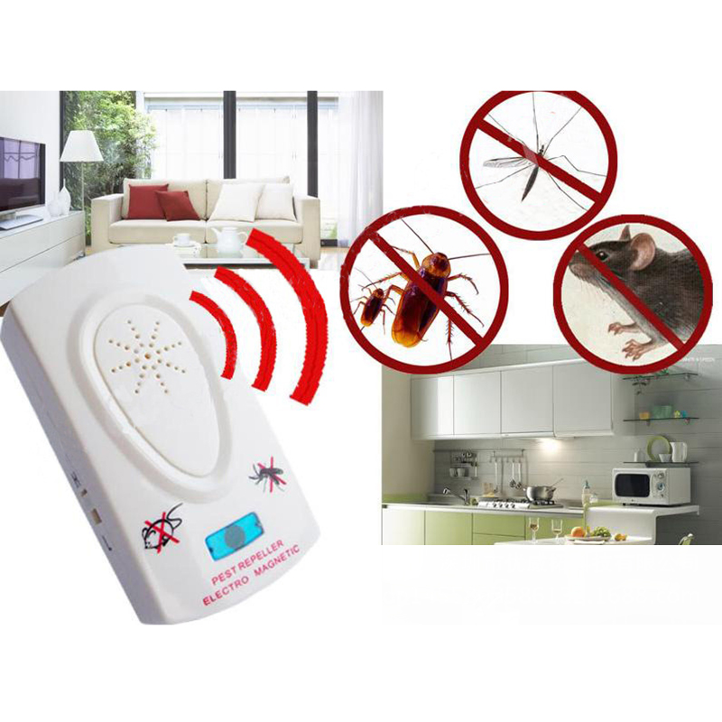 2.5W EU Plug AC 90 ~ 250V Pest Repeller Electronic Ultrasonic Mouse Rat Mosquito Insect Rodent Control Pest Reject Usb Killer