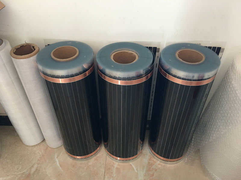 Free Shipping To Colombia 50Sq Meter Floor Heating Films Width 0.5m Length 100m, 220V/230VAC With 20 Roll Insulation Tape