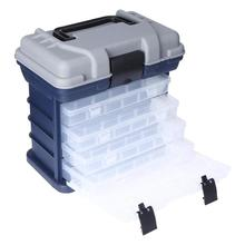 цена на Multi-Layer Fish Lures Container Box Durable Fishing Tackle Storage Case Multifunctional Plastic Detachable Fishing Lure Bait Ho
