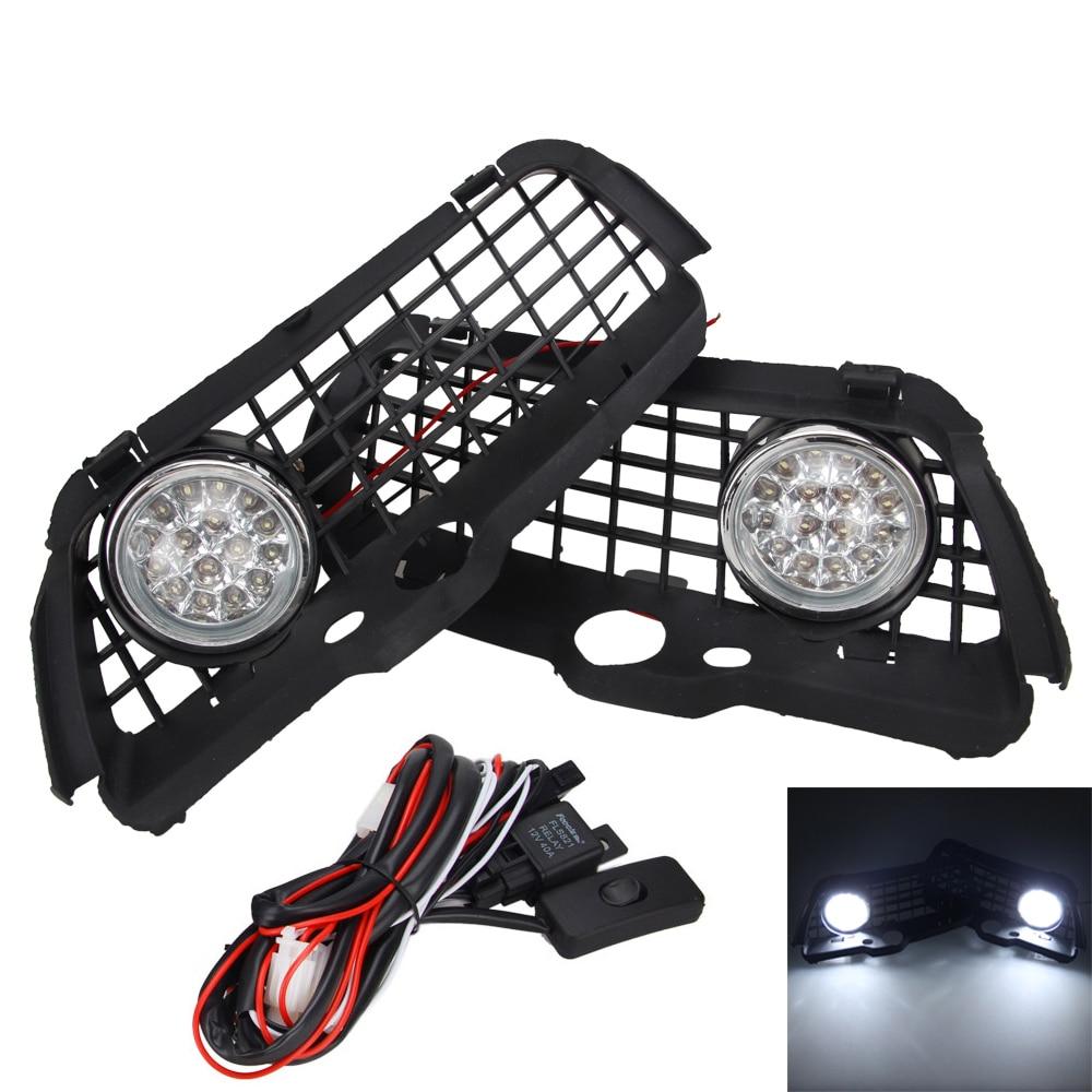 6000K LED Driving Fog Light DRL Bumper Grille For VW MK3 Golf Jetta 92-98 vw golf mk3 headlights golf mk3 bumper farol golf mk3