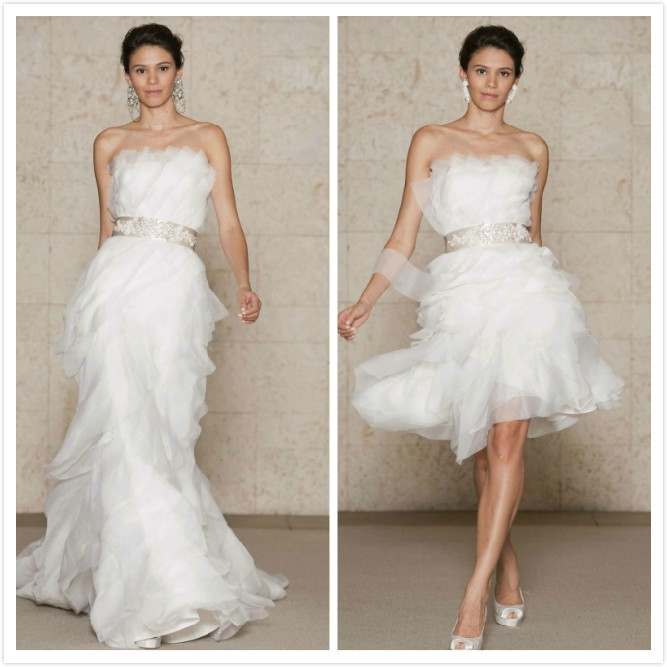 gown 2 in 1 wedding dress with convertible skirt in wedding dresses