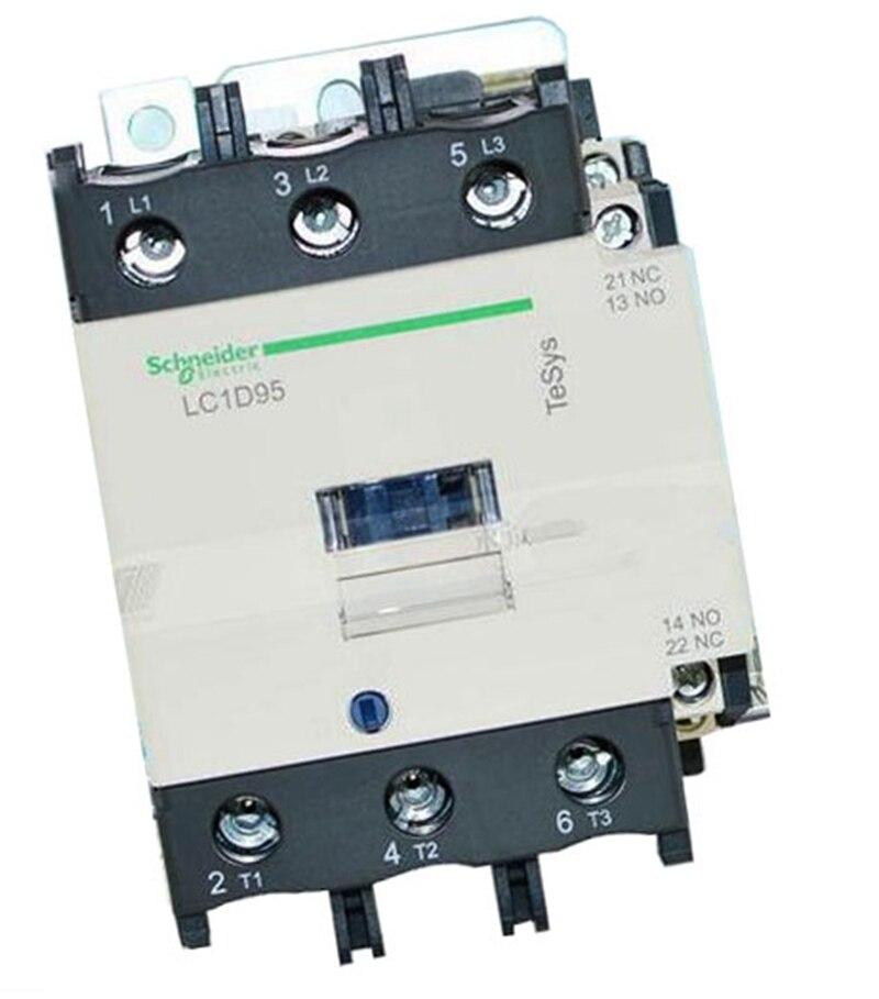 New LC1D95B7C Contactor 95A AC 24V 50/60Hz LC1-D95B7C new lc2k series contactor lc2k12105 lc2k12105u7 lc2 k12105u7 240v ac