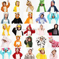 Children Kid Unisex Pajamas Cosplay Costume Animal Onesie Sleepwear Penguin Coon Lion Dog Koala Unicorn Stitch Rabbit