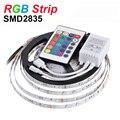 NEW RGB LED Strip Light 2835 SMD 5m 60leds/m Flexible LED Tape Light DC12V Home Decoration Lighting 24key IR Remote Controller