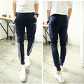 2015 hip hop dance long pant letter Printing harem style pants men three Stripes harem  sweatpants for men,28-36