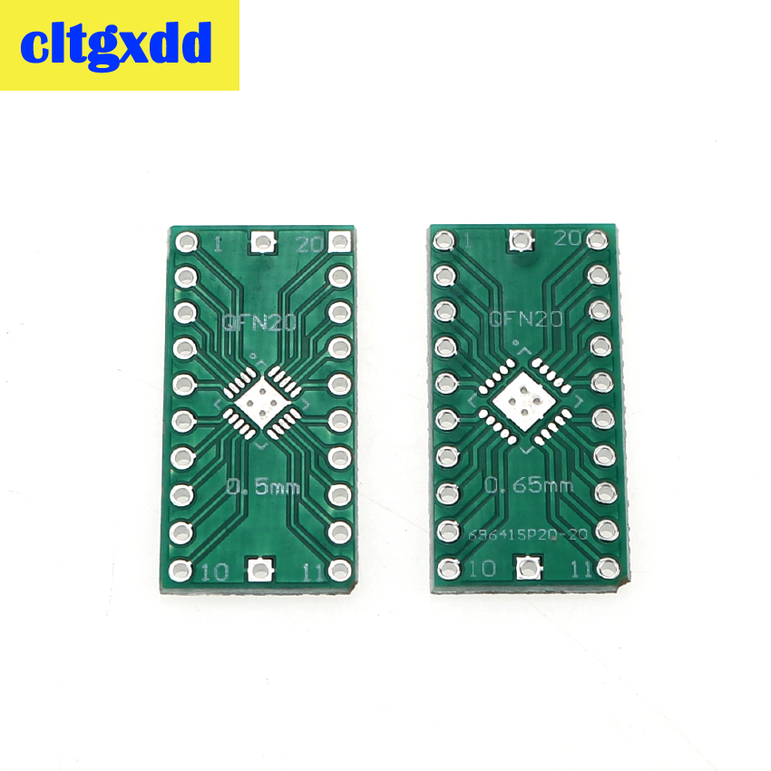 Cltgxdd 5 Pcs QFN20 Turn DIP20 DIP Switch Adapter Plate 0.5mm 0.65mm LFCSP20 DIP Pin PCB Converter Test Board