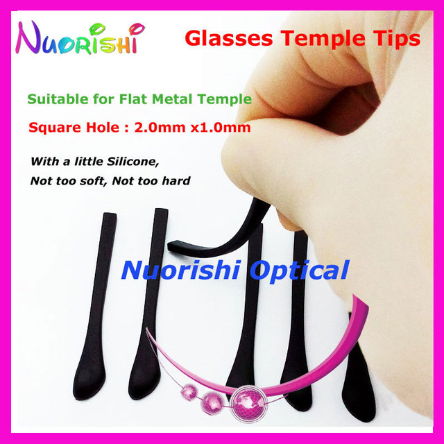 2c16174574c7 10 pairs Good Quality Eyeglass Glasses Eyewear Anti Slip Plastic Temple Tips  Cap Cover for Flat Metal Temple T3520 Free Shipping