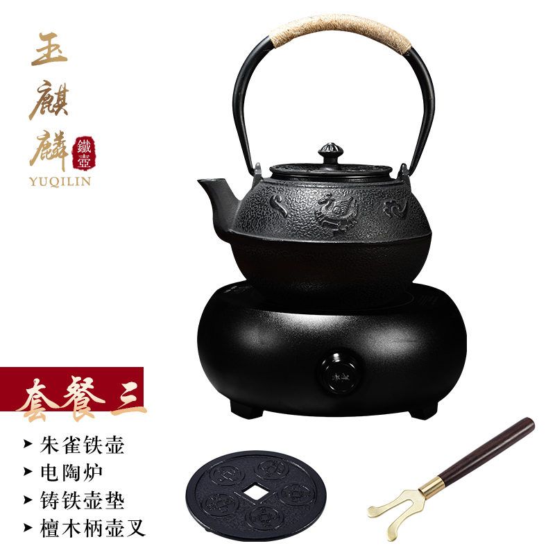 Hot sale Japanese cast iron teapot Electric ceramic heate iron kettle kung fu puer tea Iron pot oxidize uncoated Free Shipping