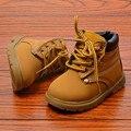 Niños shoes niños niñas martin botas de moda otoño invierno caliente bajo corto botas para niños baby boys shoes