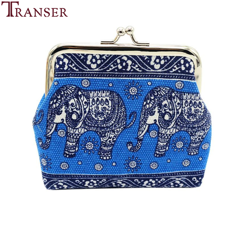 Transer Retro Vintage Elephant Coin Purse Women Lady Small Wallet Hasp Purse Clutch Kawaii Bag Coin Purse And Card Holder A12 thinkthendo 3 color retro women lady purse zipper small wallet coin key holder case pouch bag new design