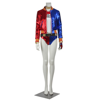 Harley Quinn Batman Cosplay Costume Outfit Women Joker Sexy Suit Coat Halloween Carnival Party Clothes Cosplay Custom Made Adult