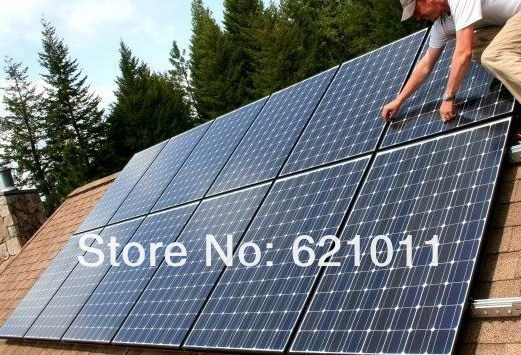 3kw home solar system, economic solar power system for home, generate about 12kWH electricity everyday, home solar generator