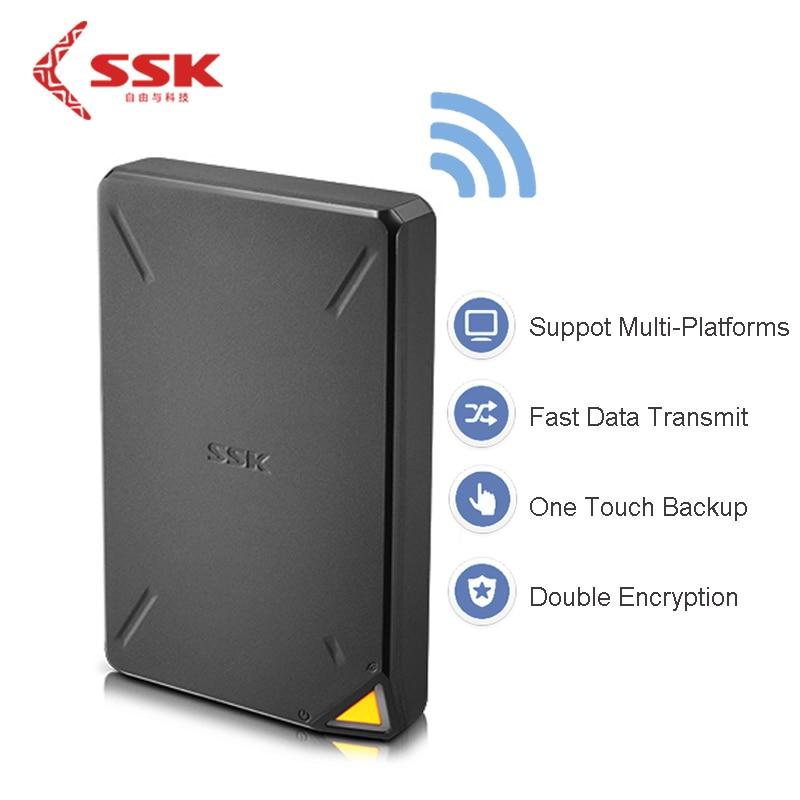 Облако Ssk ssm-f200 1 ТБ Беспроводной WI-FI smart memory HD HDD Внешние жёсткие диски на Ёмкость HD экстерно SATA для IOS для mac