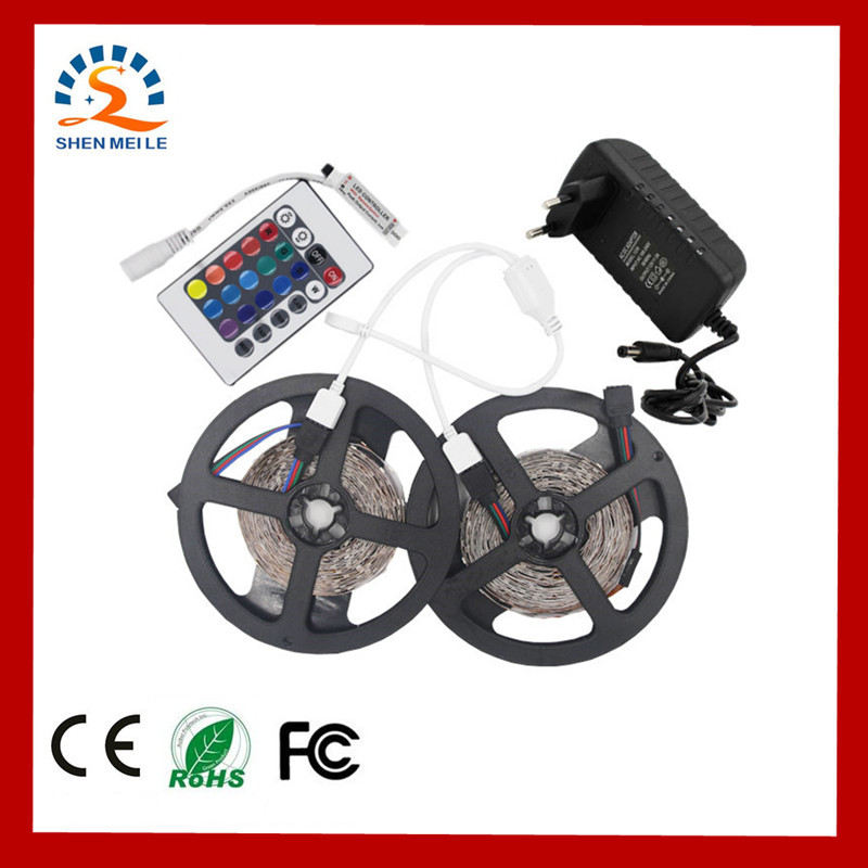 RGB Red Blue Warm White 5m 10m Full set LED Strip light LED Flexible light 2835 tape waterproof 12V DC 1m/2m/3m/5m/roll set 50cm 5m rgb led strip flexible light belt 2835 waterproof diode band diode tape power supply 12v outdoor warm white blue red green
