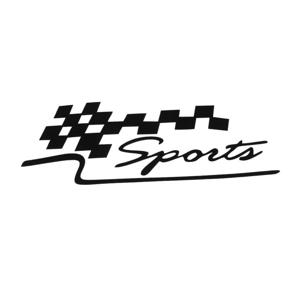 Decalque universal corrida esportes conjunto bandeira adesivos de carro auto motocicleta vinil reflexivo adesivo para o estilo do carro