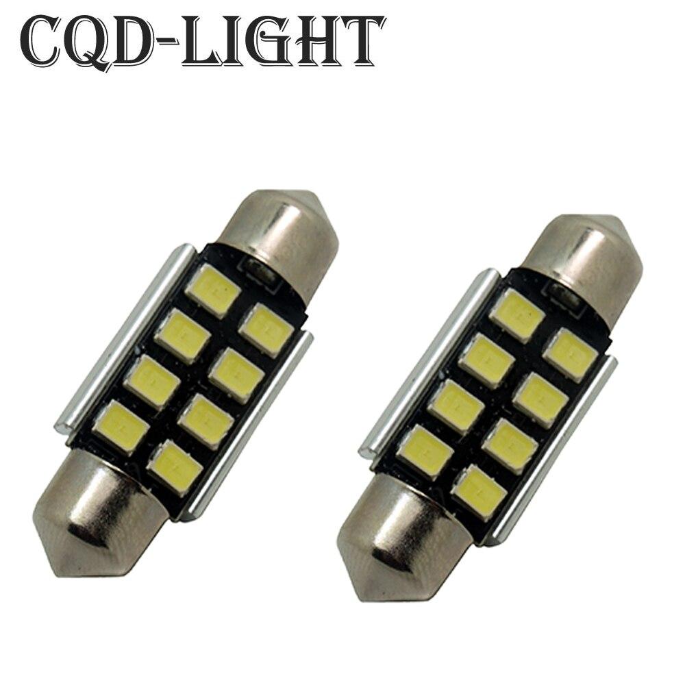 CQD-Light 2X Pure White 36mm CANbus C5W Bulbs For Samsung 2835 SMD License Plate Light For BMW E39 E36 E46 E90 E60 E30 E53... wljh 10x car light 31mm 36mm 39mm 41mm canbus c5w led light bulb 2835 smd for audi volkswagen mercedes benz bmw e36 e46 e90 e60