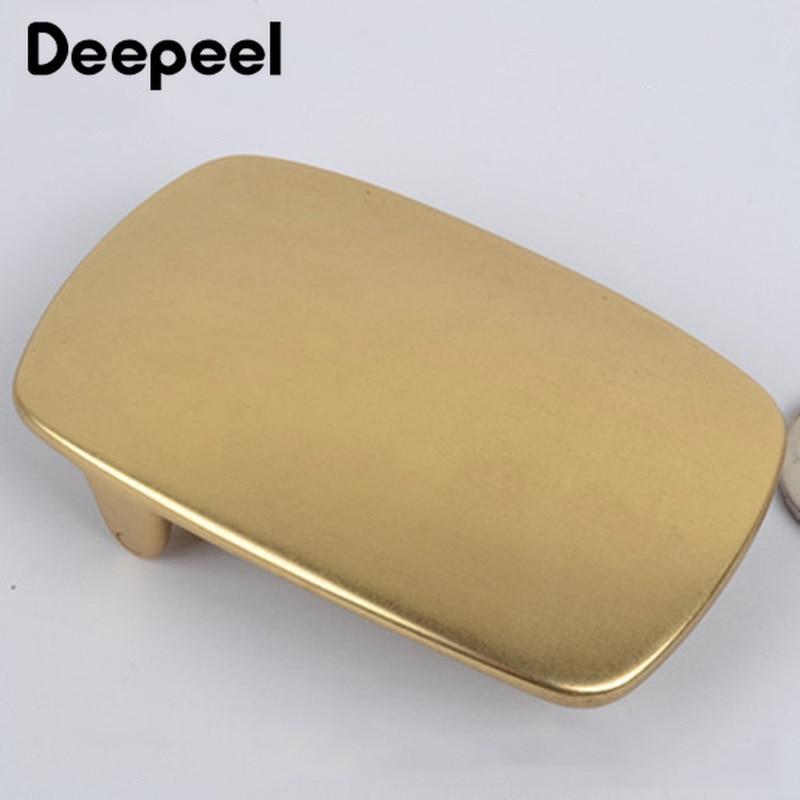 Deepeel 40mm Wide Brass Belt Buckle Men's Waist Buckle Head Cowboy Buckle Belt Clips Buttons DIY Jeans Accessories Leather Craft