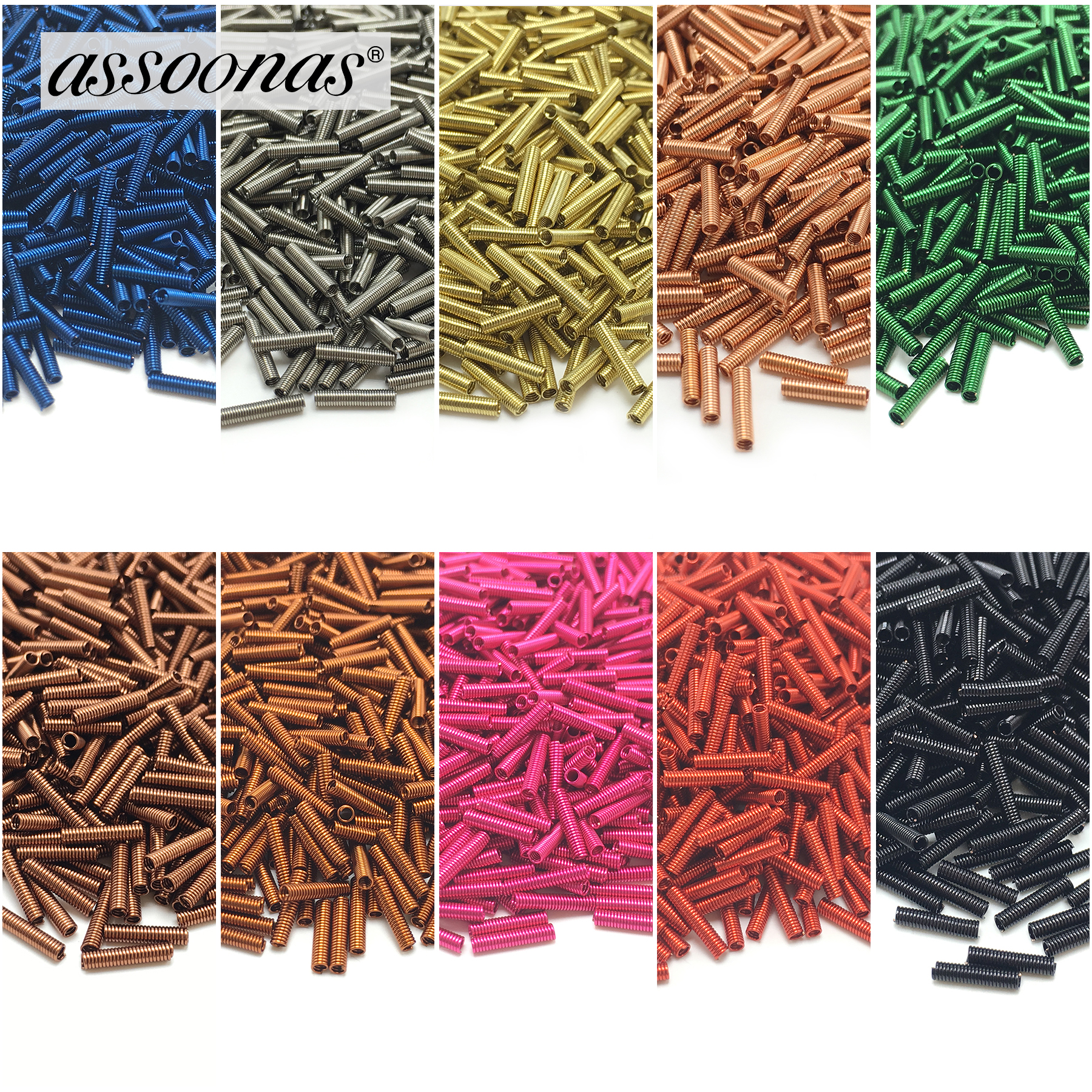 Assoonas M131,0.13cm*0.6cm,jewelry Accessories,jewelry Findings,accessory Parts,hand Made,diy,springs Assortment,jewelry Making