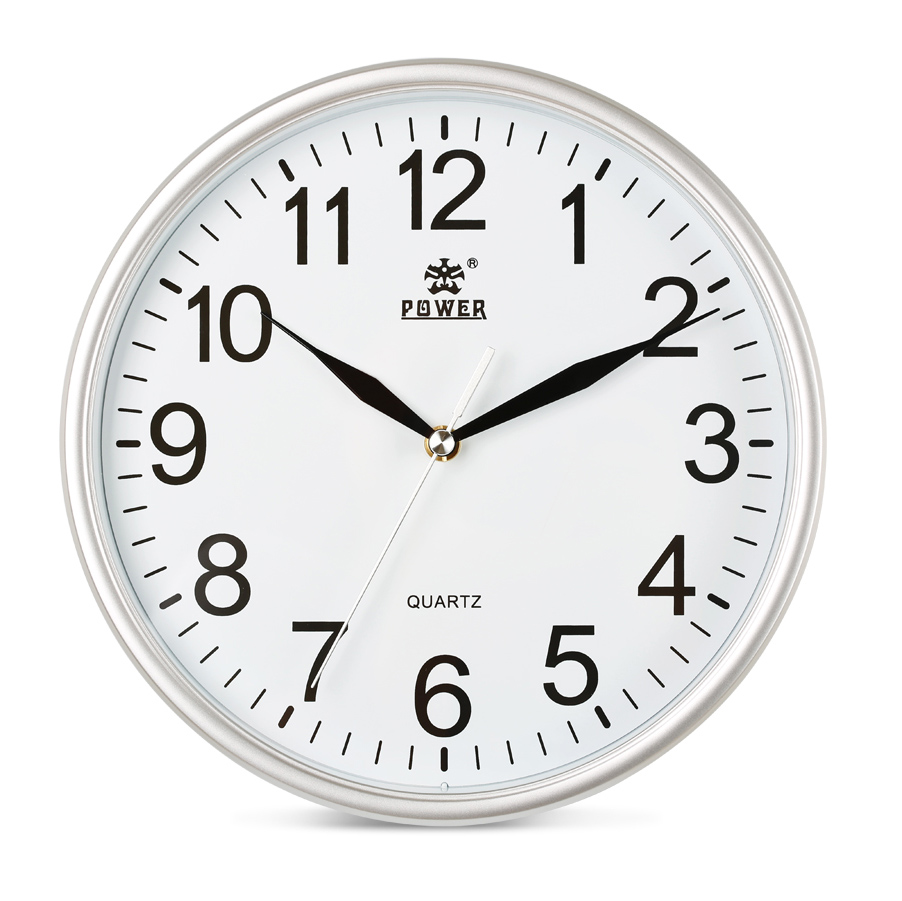 POWER Brand 10 inch/12inch Wall Clocks Silent Quartz Movement Wall - Home Decor