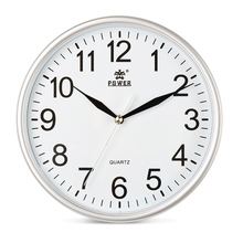 POWER Brand 10 inch 12inch Wall Clocks Silent Quartz Movement Wall Clock for Living room, bedroom