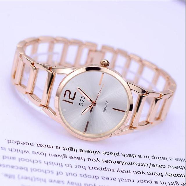 73e5c8a56ac2c 2017 GEDI Fashion Rose Gold Bracelet Watches Women Top Luxury Brand Ladies  Quartz Watch Famous Wrist Watch Relogio Feminino