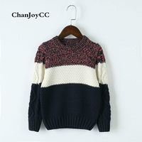 Brand ChanJoyCC New Design Children S Sweater Winter Knitted Cardigan Outerwear Patchwork Warm Soft Cotton Clothing
