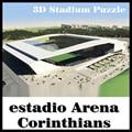 Коринфянам стадион головоломки умный & Днем 3D головоломки футбольный стадион модель Игры Бразилии Стадион сувенирные Игрушки Хэллоуин Рождество