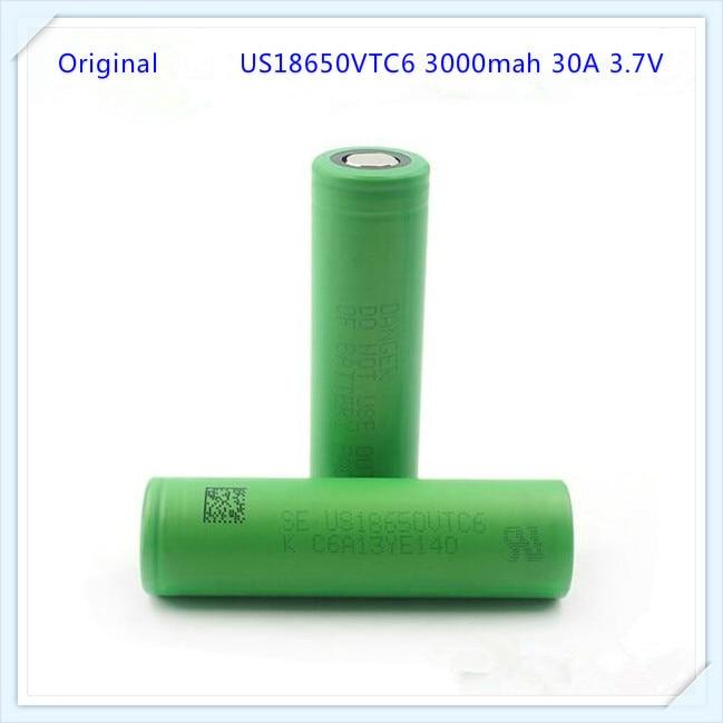 Authentique 30A Décharge 18650 VTC6 3000 mAh au lithium Batterie us18650vtc6 akku mod pour sony VTC6 (1 pc)