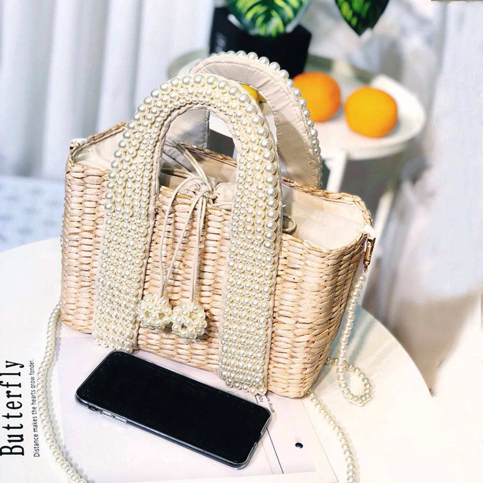 Beach Bag with Pearl (6)