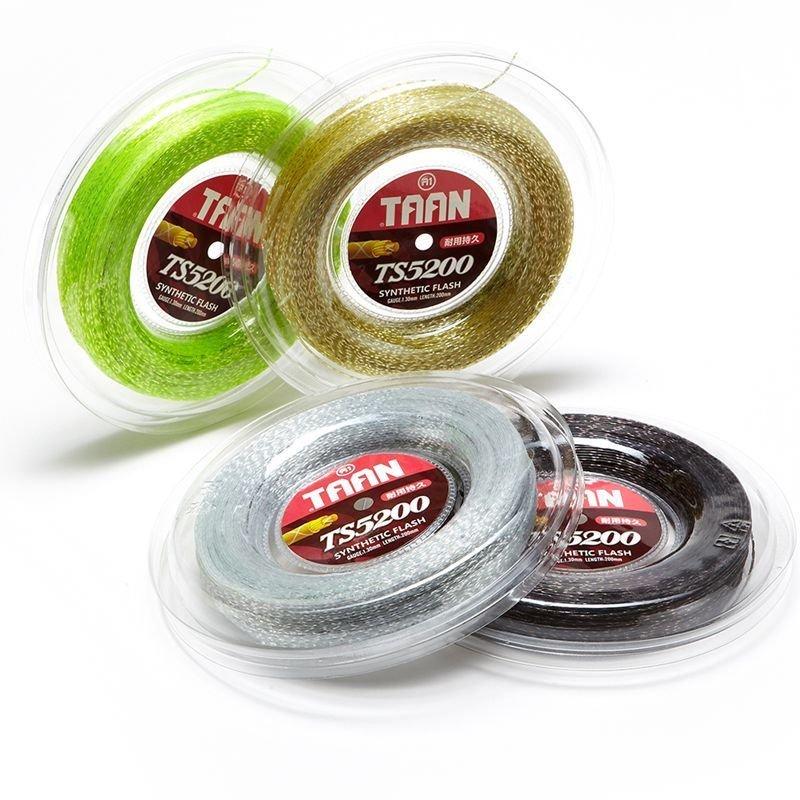 1 Reel TAAN 1.3mm Synthetic Flash Tennis Racket String 200m Reel Nylon Tennis Strings Durable String