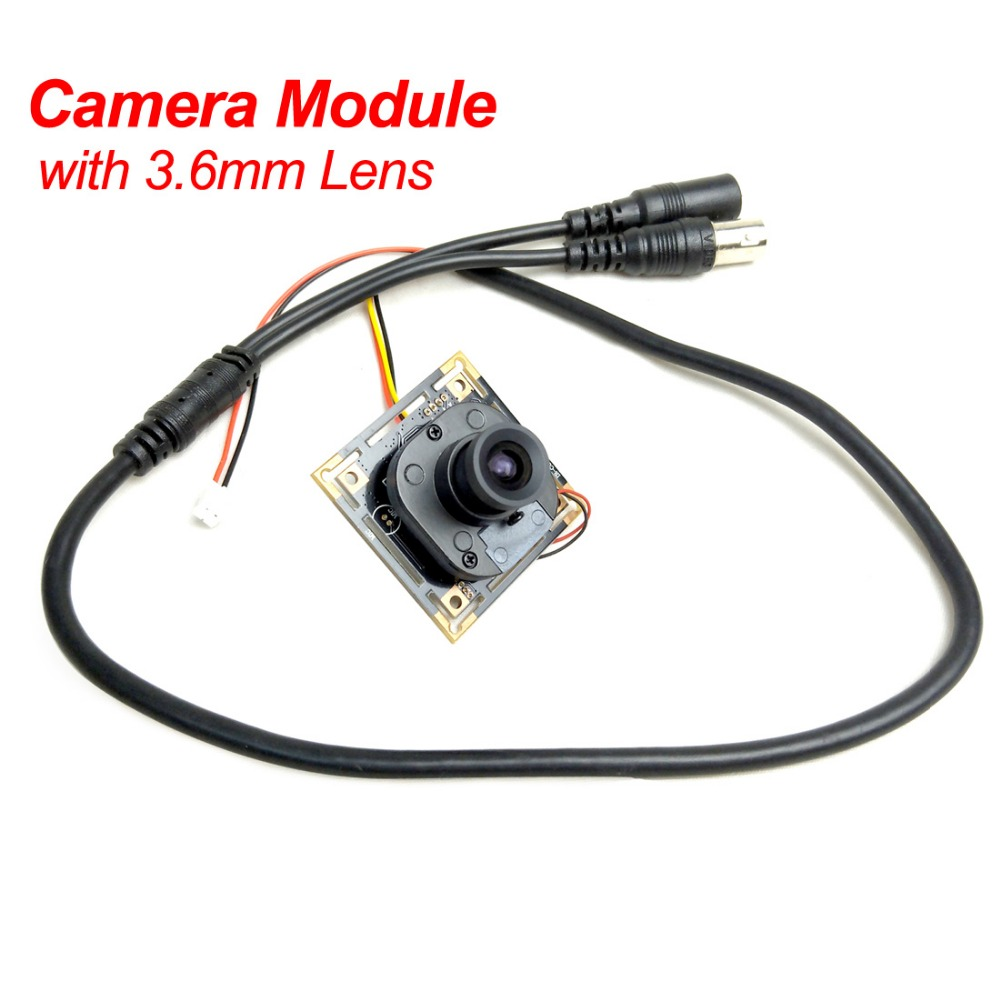 FPV 1200TVL CCTV Security Camera CMOS 960H IR CUT Filter Mini Board Module 3.6mm