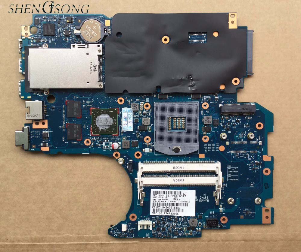 670795-001 for HP ProBook 4730s 4530s Laptop Motherboard 6050A2465501-MB-A02 HM65 1GB non-integrated 100% Tested 744007 001 744009 001 744016 001 laptop motherboard for hp probook 650 g1 pc mainboard hm87 gm 6050a2566301 mb a03 100% tested